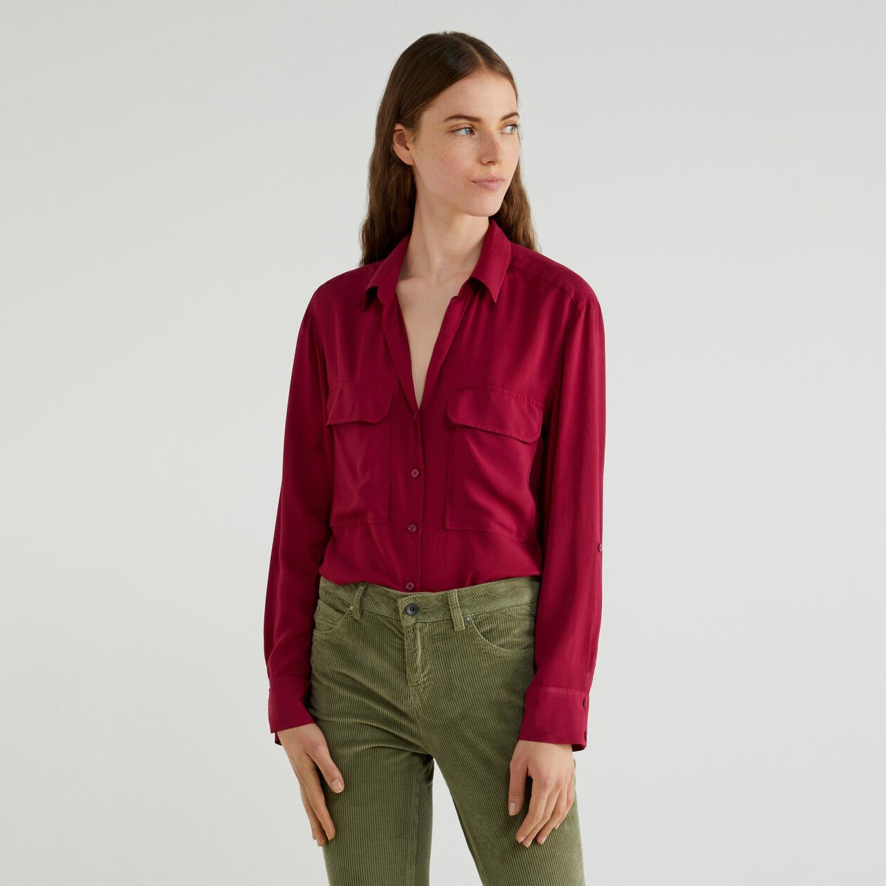 Flowy shirt with pockets