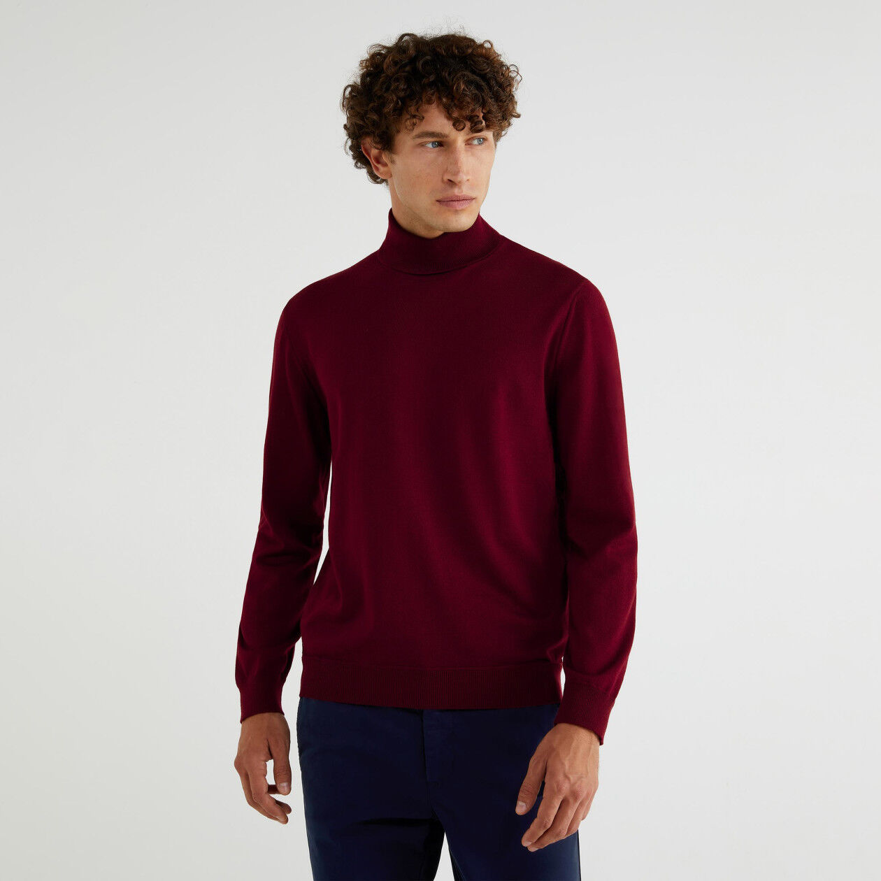 Turtleneck in 100% virgin wool