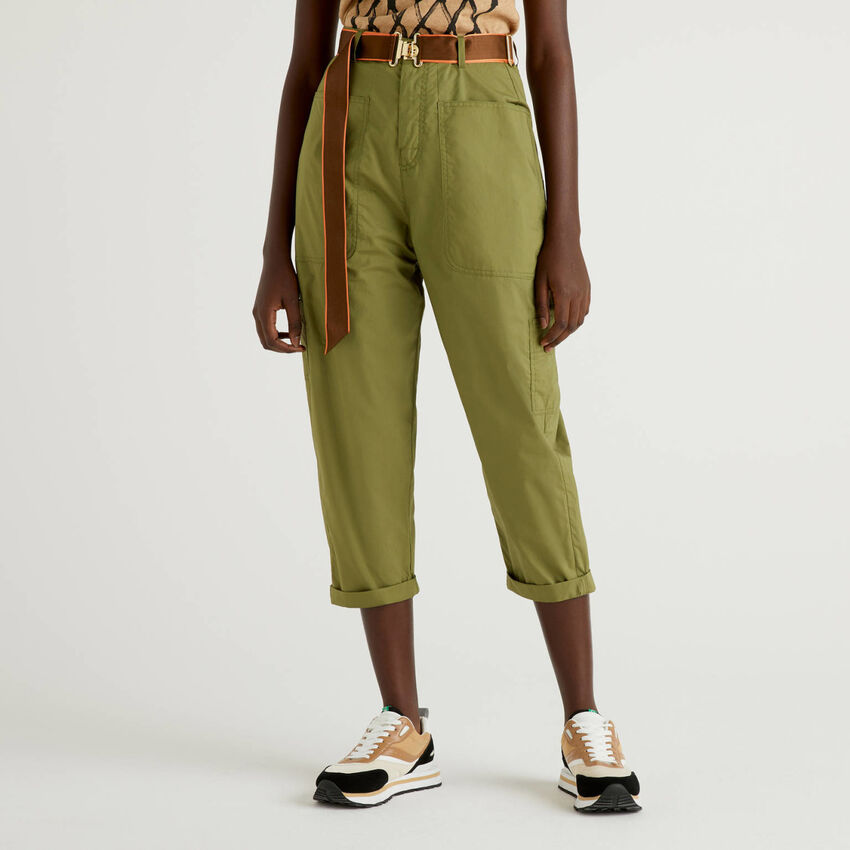 Cargo pants with belt
