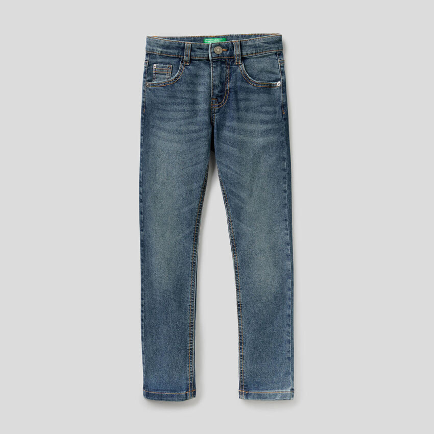 Five pocket skinny fit jeans