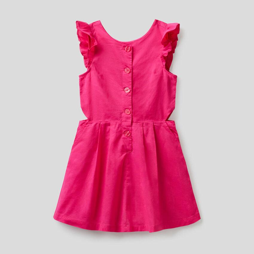 100% cotton flared dress