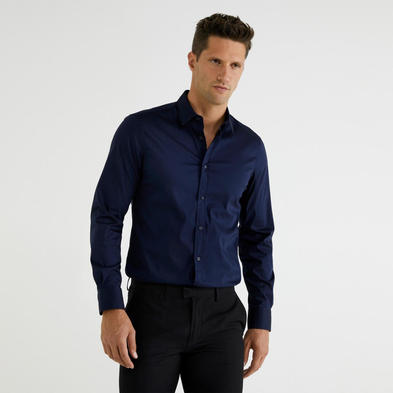 Slim fit shirt in poplin