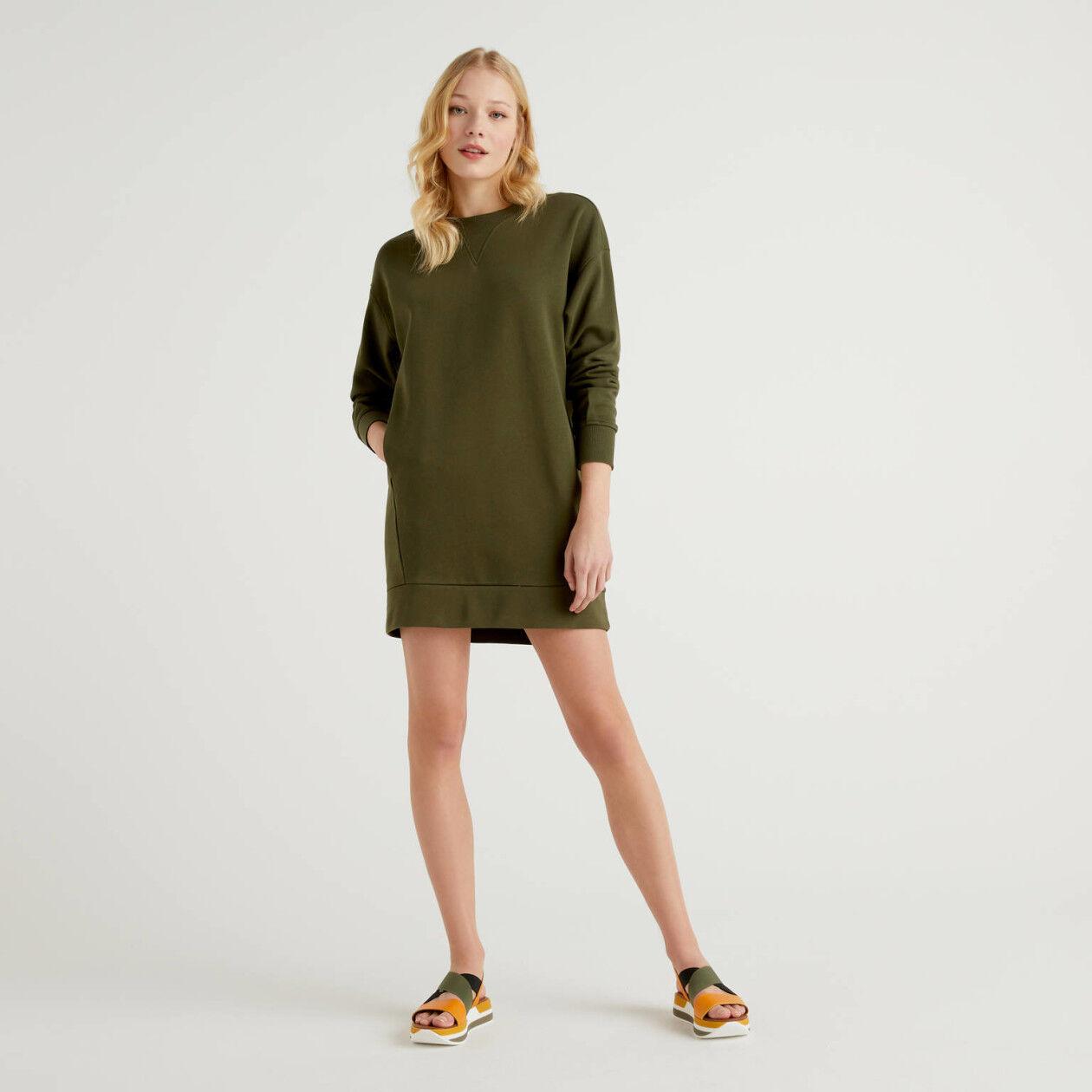 Dress in 100% sweat cotton