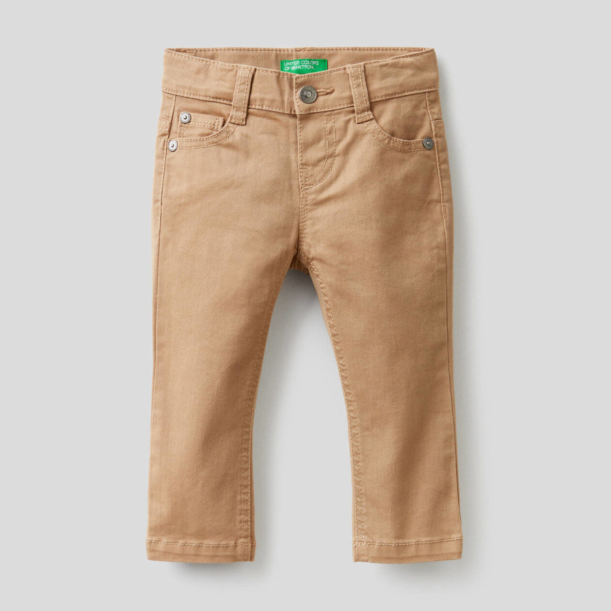 Slim fit trousers in stretch cotton
