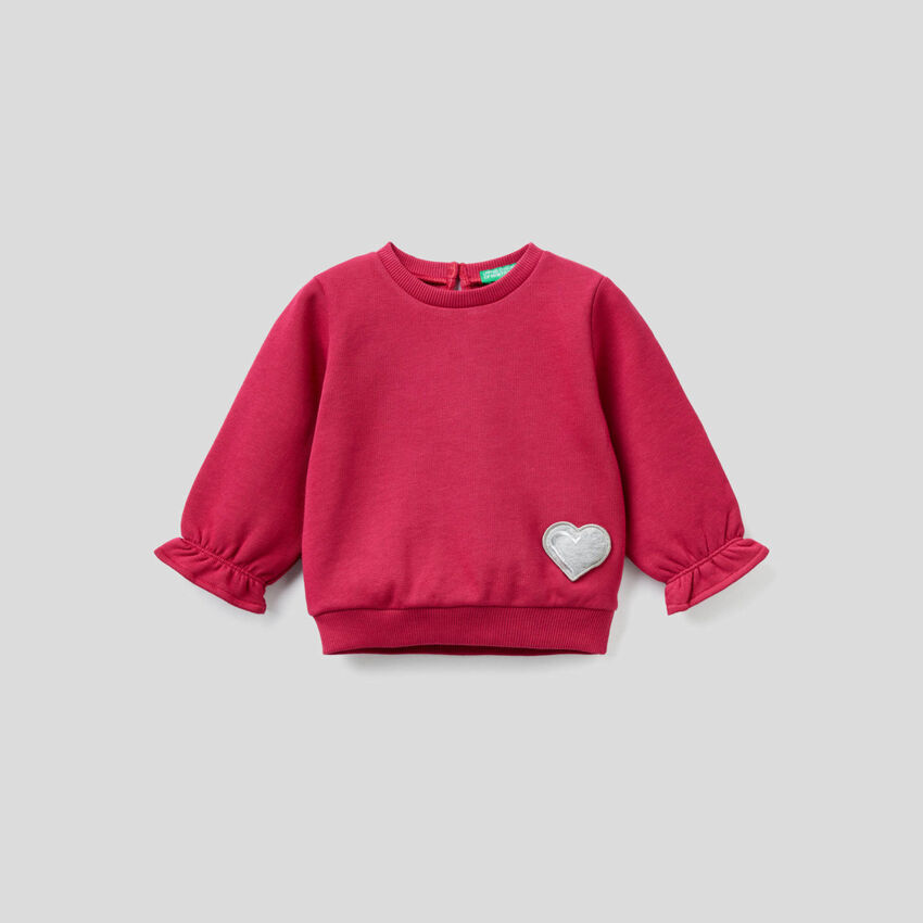 Sweatshirt with audio applique