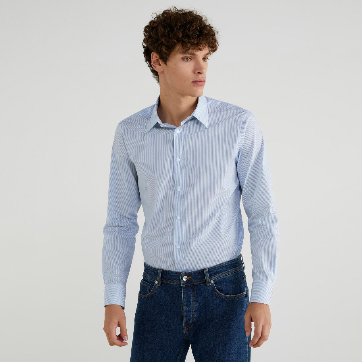 Slim fit yarn dyed shirt